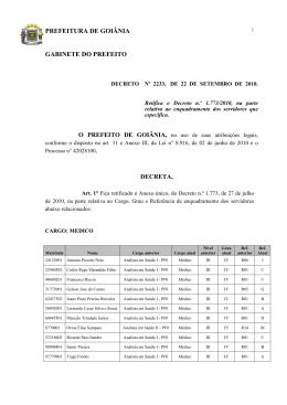 Decreto N. 2233 de 22/09/2010