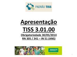 Apresentacao TISS 3.01.00