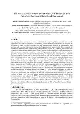 Um estudo sobre as relações existentes de Qualidade de