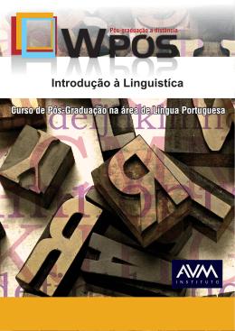 Introdução à Linguística - N - Ambiente Virtual de Aprendizagem