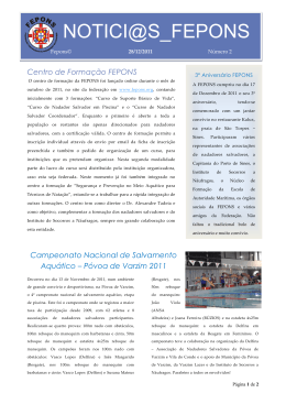 2ª Newsletter da FEPONS