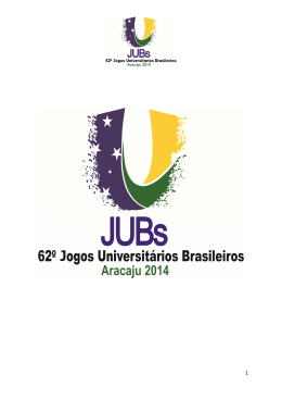 Regulamento Geral JUBS 2014