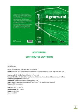 Agrorrural: contributos científicos