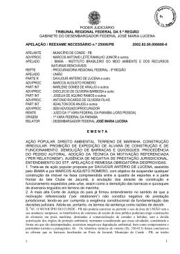 MUNICÍPIO DE CONDE - PB ADV/PROC