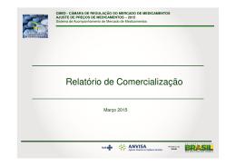 Relatório de Comercialização