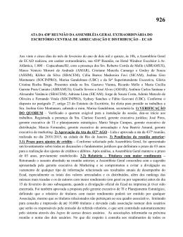 ATA DA 438ª REUNIÃO DA ASSEMBLÉIA GERAL