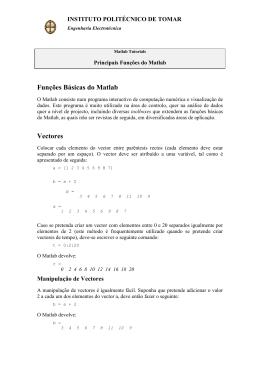 Instruções Básicas do Matlab - Departamento de Engenharia