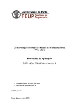 Protocolos de Aplicação-POP3