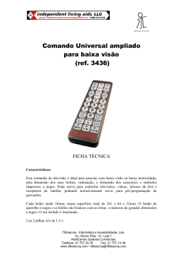 Ficha técnica do Comando Universal Ampliado