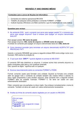 REVISÃO 3º ANO ENSINO MÉDIO