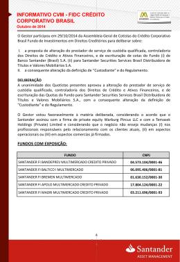 FIDC CRÉDITO CORPORATIVO BRASIL