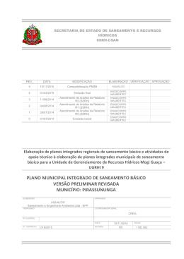PLANO MUNICIPAL INTEGRADO DE SANEAMENTO