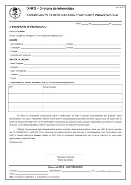 Requerimento de Rede WIFI Para Componente - dinfo