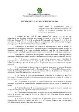 Resolução CGEN 17