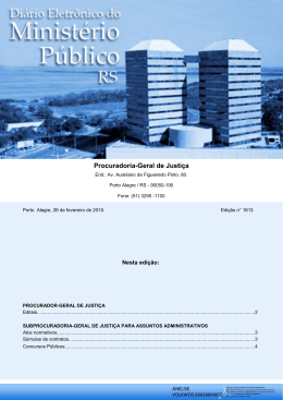 Convocação para Exames Médicos - Ministério Público