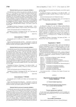 Regulamento estrutura curricular e planos de estudo das