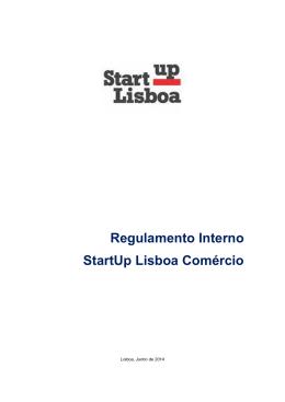 Regulamento Interno StartUp Lisboa Comércio