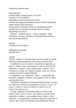 Tribunal de Contas da União Dados Materiais: Acórdão 203/94