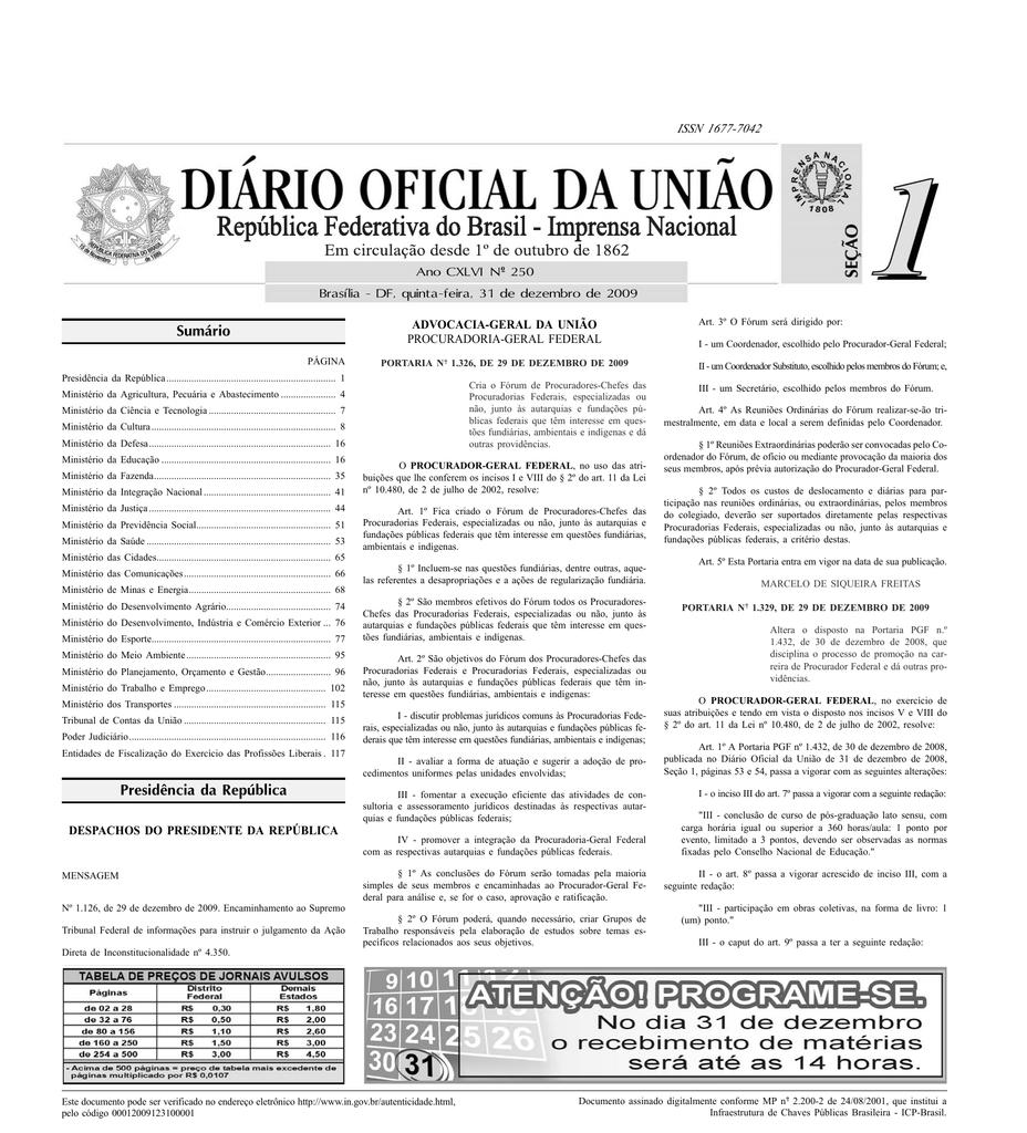 0c6219085d Sumário Presidência da República