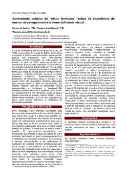 Trabalho - Sociedade Brasileira de Química