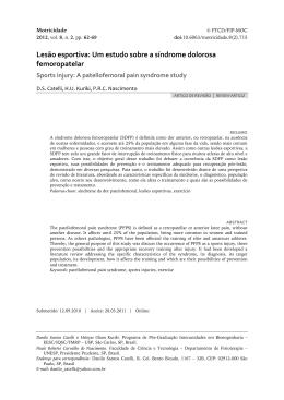 Lesão esportiva: Um estudo sobre a síndrome dolorosa femoropatelar