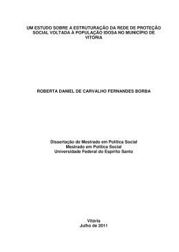 um estudo sobre a estruturação da rede de proteção social voltada