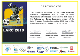 The organizing committee of the Latin American Robotics