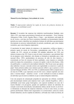 Manuel Ferreira Rodrigues, Universidade de Aveiro Título: O