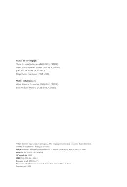 Equipa de investigação Teresa Ferreira Rodrigues (FCSH