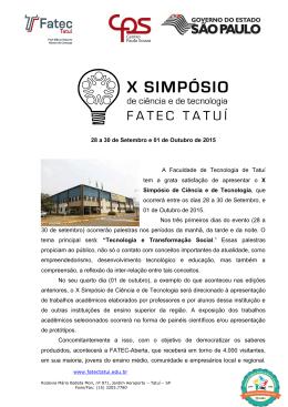 FACULDADE DE TECNOLOGIA DE ITAPETININGA