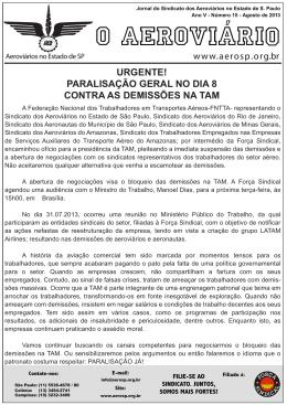 O Aeroviário - Sindicato dos Aeroviários no Estado de São Paulo