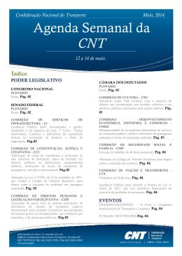 Agenda Semanal da CNT