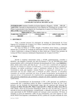 ENCAMINHADO PARA HOMOLOGAÇÃO MINISTÉRIO DA