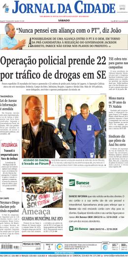 ameaça - Jornal da Cidade