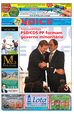 PSD/CDS-PP formam governo minoritário