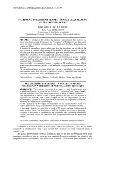 validação preliminar de uma técnica de avaliação de feminino