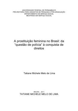 A prostituição feminina no Brasil