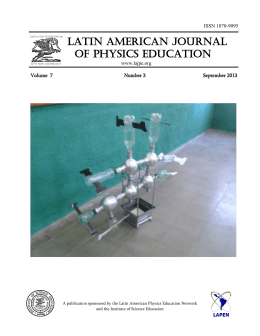 September 2013 - Latin-American Journal of Physics Education