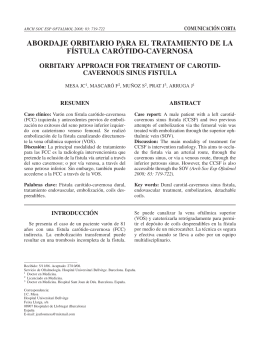 abordaje orbitario para el tratamiento de la fístula