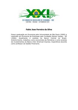 Econ. Fábio Ferreira da Silva