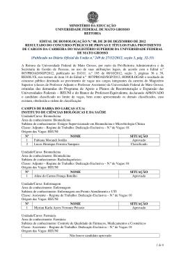 (Publicado no Diário Oficial da União n.º 249 de 27/12/2012