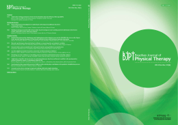 BJPT - Brazilian Journal of Physical Therapy