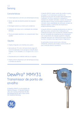 DewPro® MMY31 - GE Measurement & Control