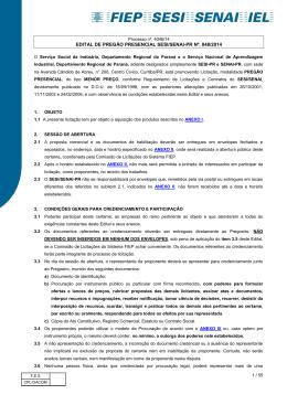 EDITAL DE PREGÃO PRESENCIAL SESI/SENAI-PR