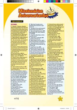 OUTUBRO Siglas na página 64