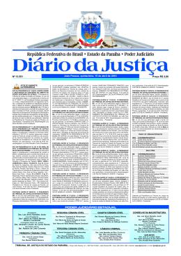 15/04/10 - Tribunal de Justiça da Paraíba
