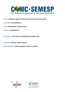 TÍTULO: DESENVOLVIMENTO DE UM KIT - O Conic