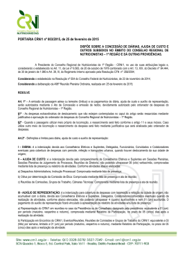 PORTARIA CRN/1 nº 003/2015, de 25 de fevereiro de 2015
