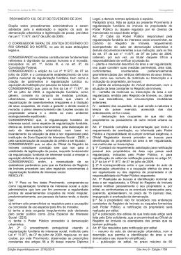 Provimento nº 122/2015