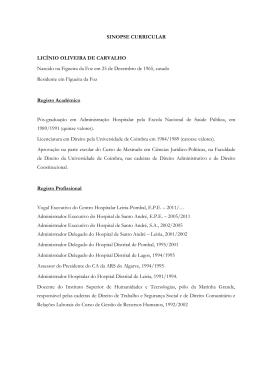 sinopse curricular - Centro Hospitalar de Leiria